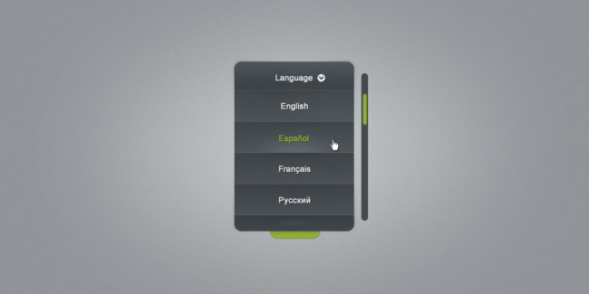 Language Selector Combo Box Free PSD Full Preview