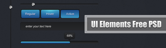 UI Elements Free PSD by Ahmad Hania