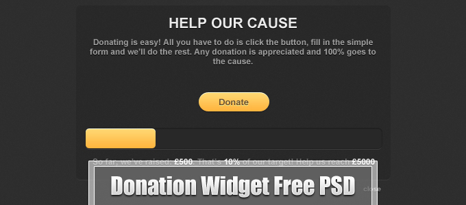 Donation Widget Free PSD