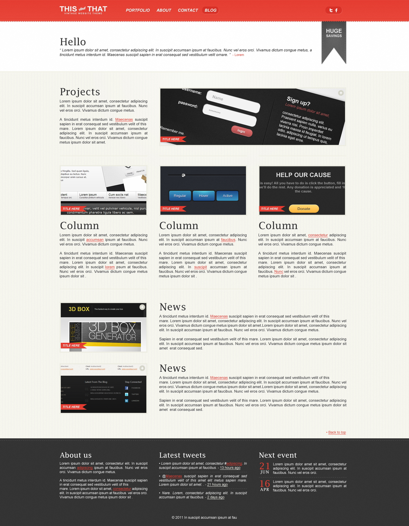 THISandTHAT: Vintage Website Template Full Preview