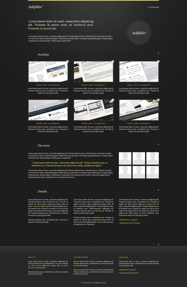 Inkfolio: Professional Portfolio Template Full Preview