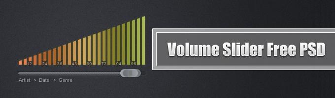 Volume Slider Free PSD