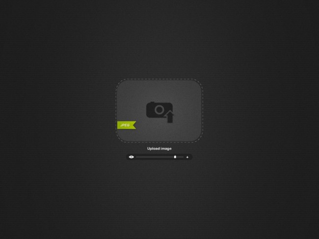 Drop Image Uploader Free PSD Full Preview