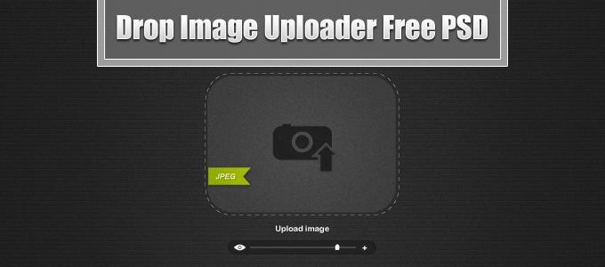 Drop Image Uploader Free PSD