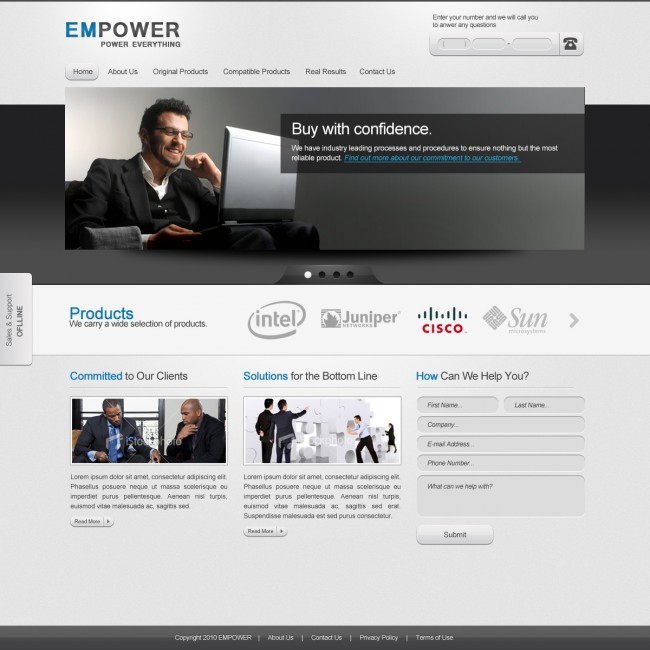 EMPOWER: Corporate Website Template Full Preview