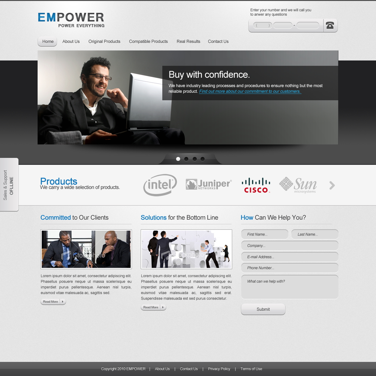 empower: corporate website template - free psd - ahmad hania blog