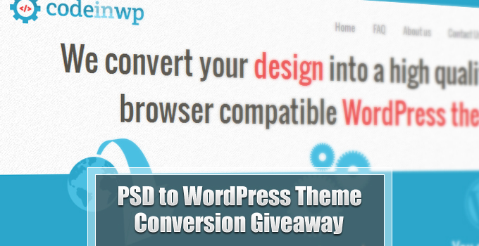 Simple PSD to WordPress Theme Conversion Giveaway