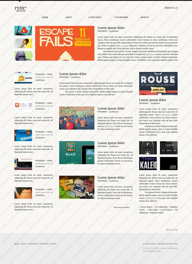 TYDY Magazine Template